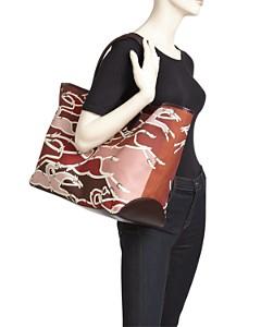 Longchamp - Roseau Galop Extra Large Canvas Shoulder Tote