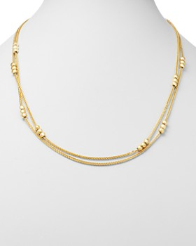 """Bloomingdale's - Layered Bead Double Strand Necklace in 14K Yellow Gold, 24"""" - 100% Exclusive"""