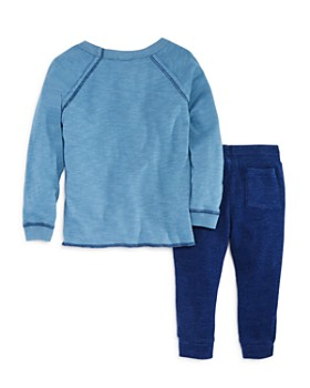 Splendid - Boys' Raglan Varsity Tee & Waffle-Knit Jogger Pants Set - Little Kid