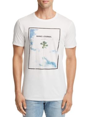 BANKS Adam Palm Tree Graphic Tee in Off White