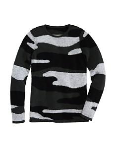 AQUA - Girls' Camo-Print Cashmere Sweater, Big Kid - 100% Exclusive