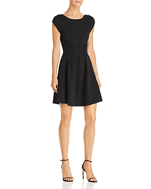 French Connection Katie Corset Detail Fit-and-Flare Dress