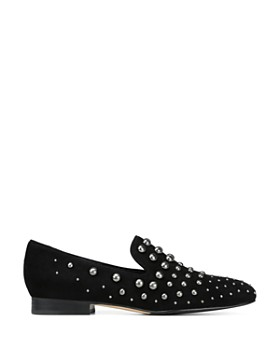 Donald Pliner - Women's Loyd Almond Toe Studded Suede Loafers