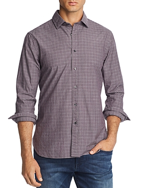The Men's Store at Bloomingdale's Plaid Broadcloth Slim Fit Shirt - 100% Exclusive