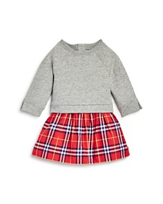 Burberry - Girls' Francine Check Skirt Sweatshirt Dress - Baby