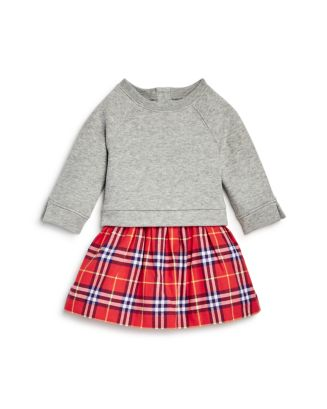 a5229305ee51 Burberry Girls  Francine Check Skirt Sweatshirt Dress - Baby ...