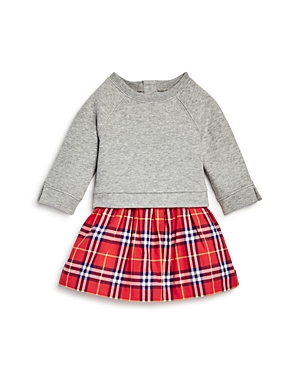 Burberry Girls' Francine Check Skirt Sweatshirt Dress - Baby