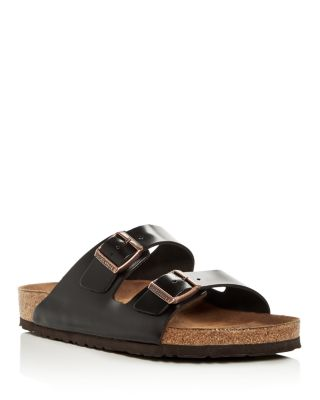 Men's Arizona Leather Slide Sandals by Birkenstock