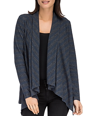 B Collection By Bobeau B COLLECTION BY BOBEAU AMIE STRIPE OPEN CARDIGAN