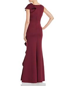 Eliza J - Asymmetric Ruffle Scuba Gown