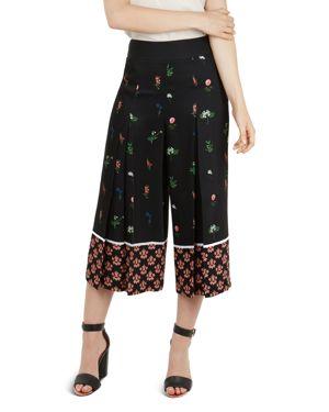 Kaytii Florence Floral Culottes, Black