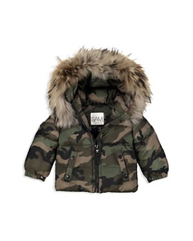 SAM. - Unisex Camo-Print Fur-Trimmed Down Jacket - Baby