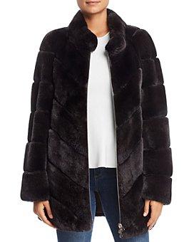 Maximilian Furs - Rabbit Fur Coat- 100% Exclusive