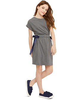 Habitual - Girls' Violet Shirt Dress with Velvet Bows - Little Kid, Big Kid