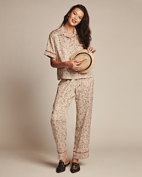 Midnight Bakery - Dolce Animal Print Satin Short Sleeve PJ Set