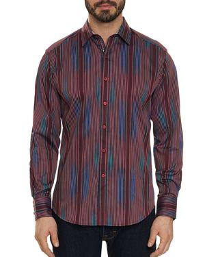 Robert Graham Rahman Striped Regular Fit Shirt