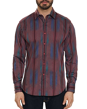 Robert Graham Rahman Striped Regular Fit Shirt
