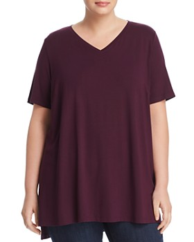 Eileen Fisher Plus - V-Neck Tunic Tee