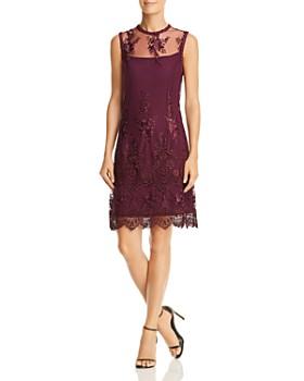 Nanette Lepore Sleeveless Illusion Embroidered Dress
