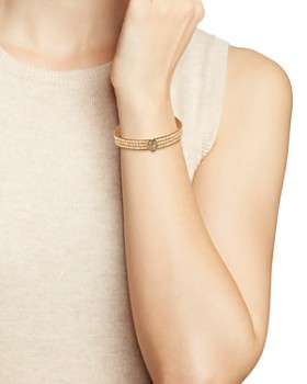 Chan Luu - Faceted Station Stone Bracelet