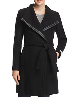 Calvin Klein - Belted Asymmetric Front Coat
