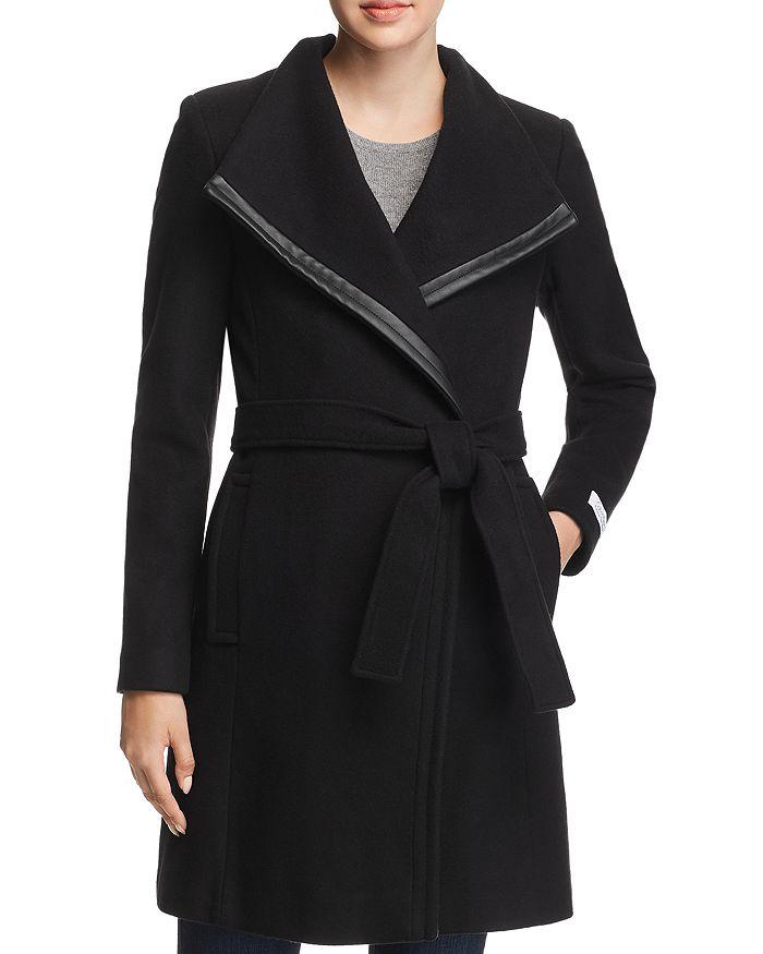 Calvin Klein - Belted Asymmetric Front Coat