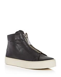 Frye - Women's Lena Zip Up Leather High Top Sneakers