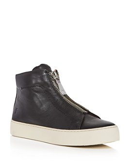 Frye - Women's Lena Zip Up Leather High Top Sneakers
