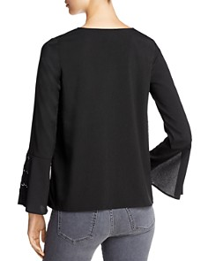 Design History - Whip-Stitched Bell-Sleeve Top