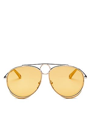 ac272a96151 Chloe Women s Romie Mirrored Aviator Sunglasses