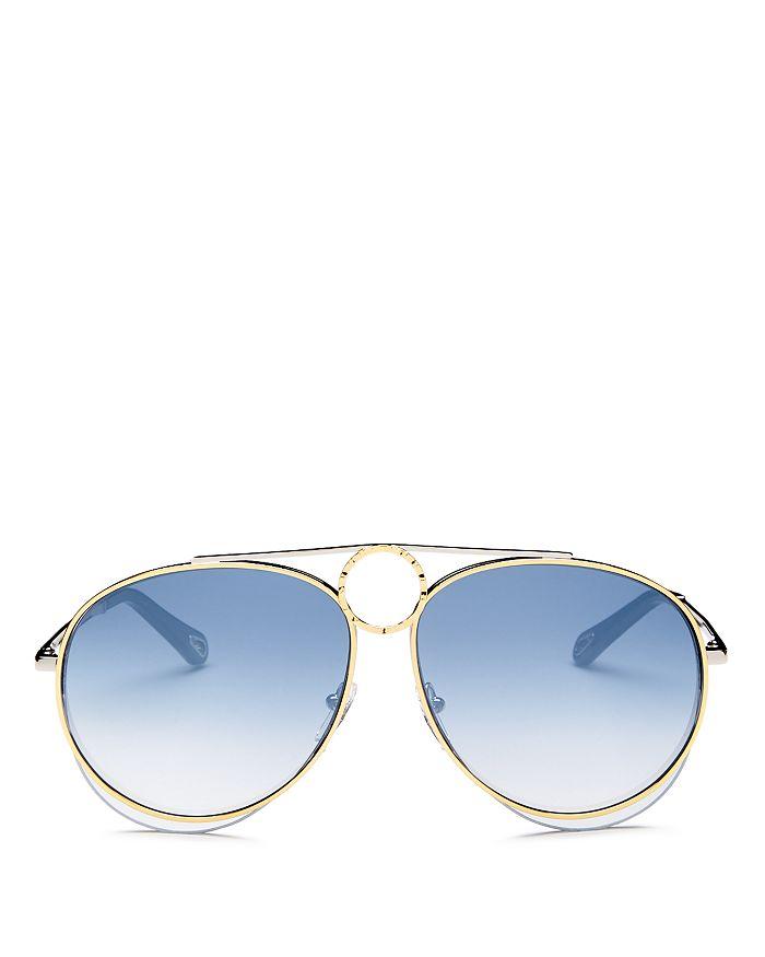 e6d428cd54d Chloé - Women s Romie Mirrored Aviator Sunglasses