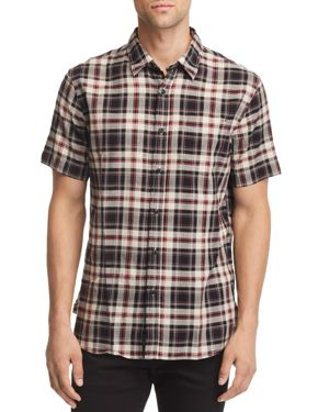 JACHS NY Plaid Short-Sleeve Regular Fit Shirt - 100% Exclusive in Black/Gray