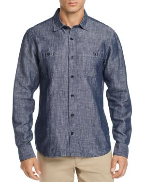OOBE Millworks Regular Fit Chambray Shirt in Blue