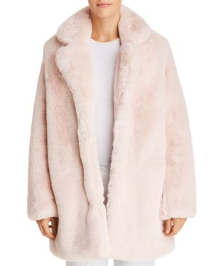 APPARIS Sophie Faux Fur Jacket in Blush