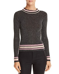 Lucy Paris - Nicole Metallic Rib-Knit Sweater