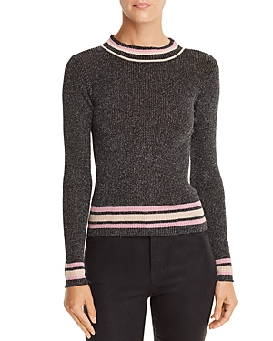 Lucy Paris Nicole Metallic Rib-Knit Sweater