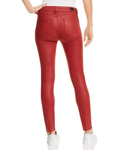 PAIGE - Coated Hoxton Ankle Peg Skinny Jeans in Heartthrob Luxe