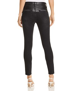 Current/Elliott - The Fused High-Rise Stiletto Jeans in Rocco With Leather Piecing