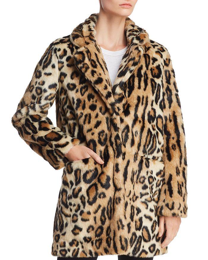 abc0c0cc2866 Apparis - Margot Leopard-Print Faux-Fur Coat