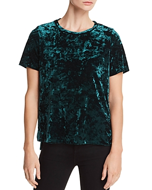 Aqua Crushed Velvet Tee - 100% Exclusive