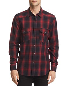7 For All Mankind Plaid Regular Fit Western Shirt - Bloomingdale's_0