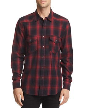 7 For All Mankind - Plaid Regular Fit Western Shirt