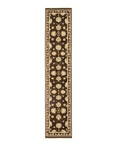 """Solo Rugs - Oushak 39 Hand-Knotted Area Rug, 2' 6"""" x 12' 4"""""""