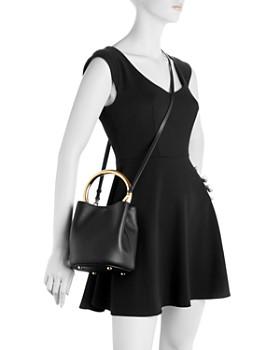 Marni - Mini Pannier Ring Handle Leather Bucket Bag
