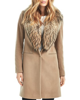 SAM. - Crosby Wool Coat with Fur Trim