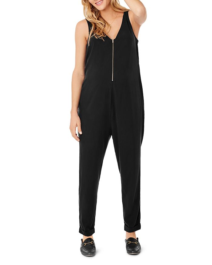 Ingrid & Isabel MATERNITY ZIP-FRONT JUMPSUIT