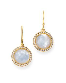 IPPOLITA - 18K Yellow Gold Lollipop Mother-of-Pearl & Pavé Diamond Mini Drop Earrings