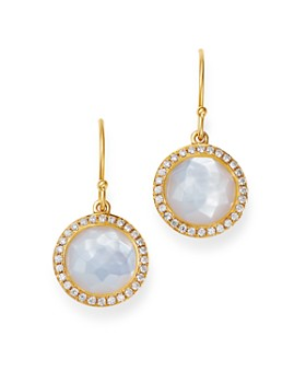 IPPOLITA - 18K Yellow Gold Lollipop Mother-of-Pearl & Pavé Diamond Mini Drop Earrings