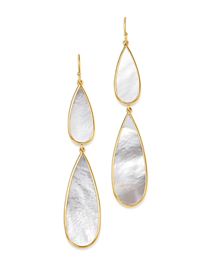 Ippolita 18K Yellow Gold Polished Rock Candy Mother-Of-Pearl Double Teardrop Drop Earrings-Jewelry & Accessories