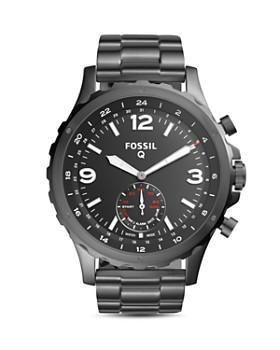 Fossil - Q Nate Gunmetal-Tone Hybrid Smartwatch, 50mm
